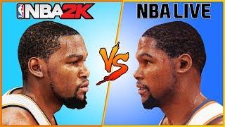 KEVIN DURANT NBA 2K vs NBA LIVE [2008 - 2016]