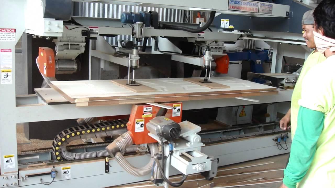 Lih Woei 4 Side Door Edge Cutting Machine Wood Working