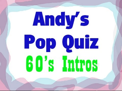 Pop Quiz No6  10 x 60s Intros