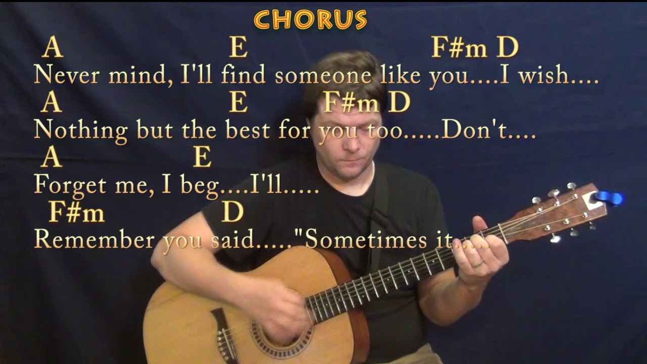 Someone Like You Adele Guitar Lesson Chord Chart In A With Chords