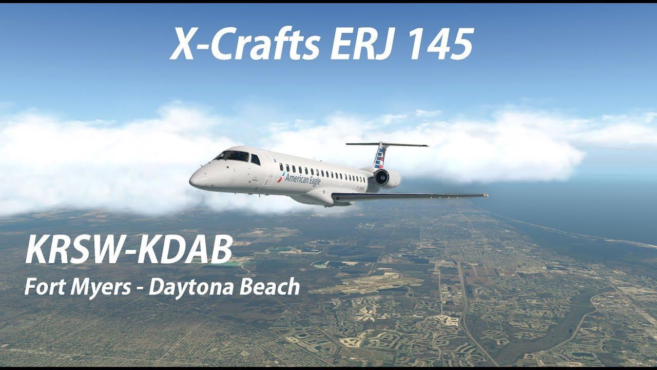X-Crafts ERJ 145 \\ RSW-DAB \\ X-Plane 11