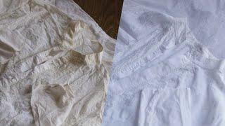 सफेद कपड़ों को चमकाने,दाग और पीलापन हटाने का आसान तरीका |Keep White Clothes White .