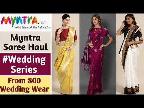 myntra-saree-haul- -wedding-saree-haul- -wedding-outfits