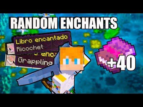 +40 ENCANTAMIENTOS ! - RANDOM ENCHANTS MOD MINECRAFT 1.12.2 Y 1.14.4