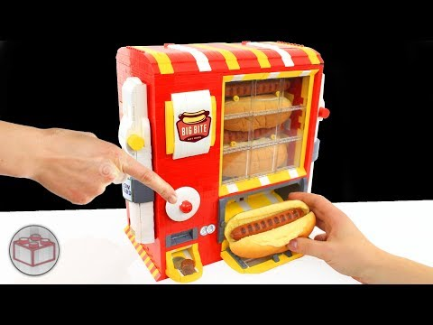 LEGO Hot Dog Machine with Ketchup and Mustard // Mayka Tape