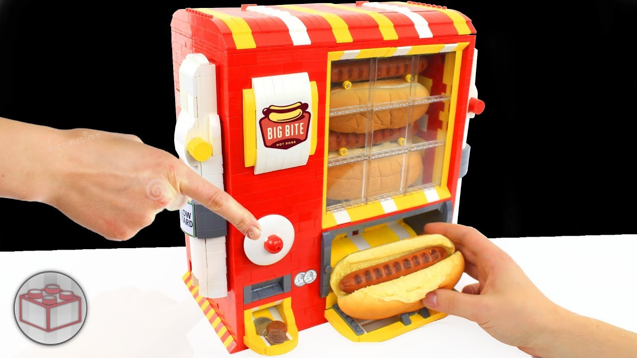 lego hot dog machine with ketchup mayka tape and mustard. Black Bedroom Furniture Sets. Home Design Ideas