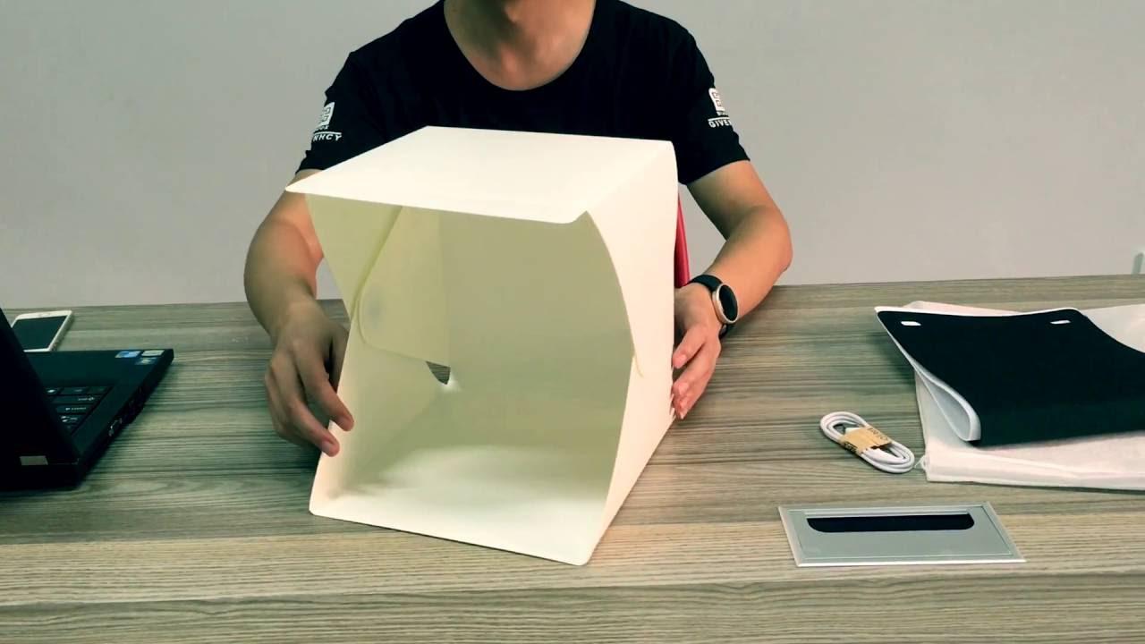 Upslon Mini Portable Photography Studio Light Tent & Upslon Mini Portable Photography Studio Light Tent - YouTube