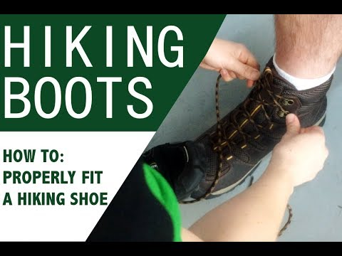 How to be sure Hiking Boots fit properly! Walk in Comfort!