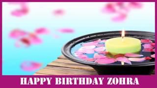 Zohra   Birthday Spa - Happy Birthday
