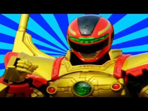 All Red Ranger Battlizer Transformations and Finishers | Power Rangers In Space to Ninja Steel