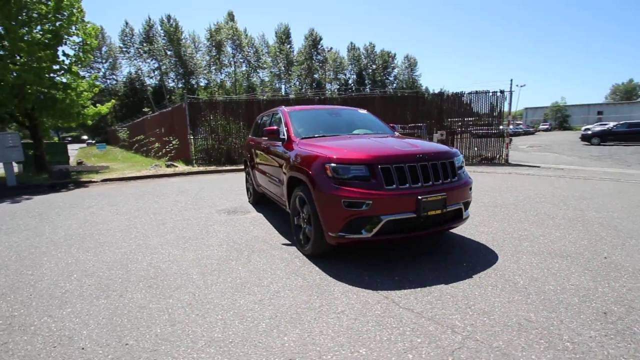 2016 jeep grand cherokee overland high altitude red gc438582 redmond seattle youtube. Black Bedroom Furniture Sets. Home Design Ideas