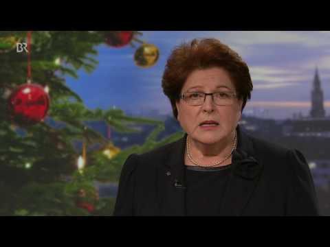 """Weihnachtsansprache von Barbara Stamm: """"Was Bayern so wertvoll macht, ist Ihr Verdienst"""""""