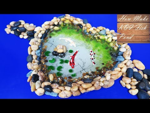 How to Make Miniature Koi Fish Pond - kids project