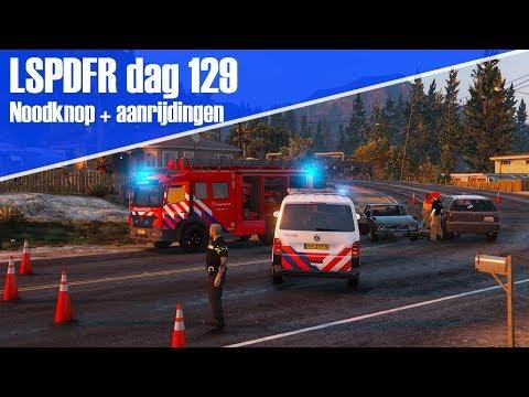 GTA 5 lspdfr dag 129 - Noodknop + meerdere ongevallen! T6