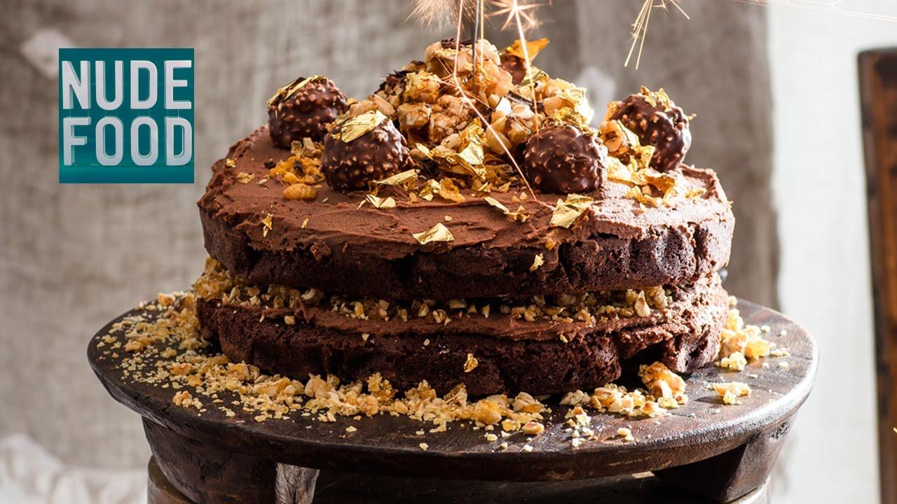 How to make Ferrero Rocher Chocolate Hazelnut Cake! - YouTube