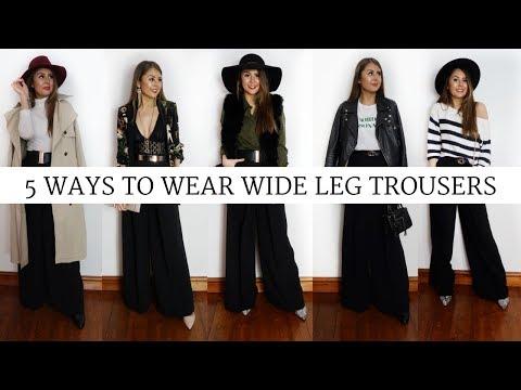5 Ways to Wear Wide Leg Trousers: LOOKBOOK
