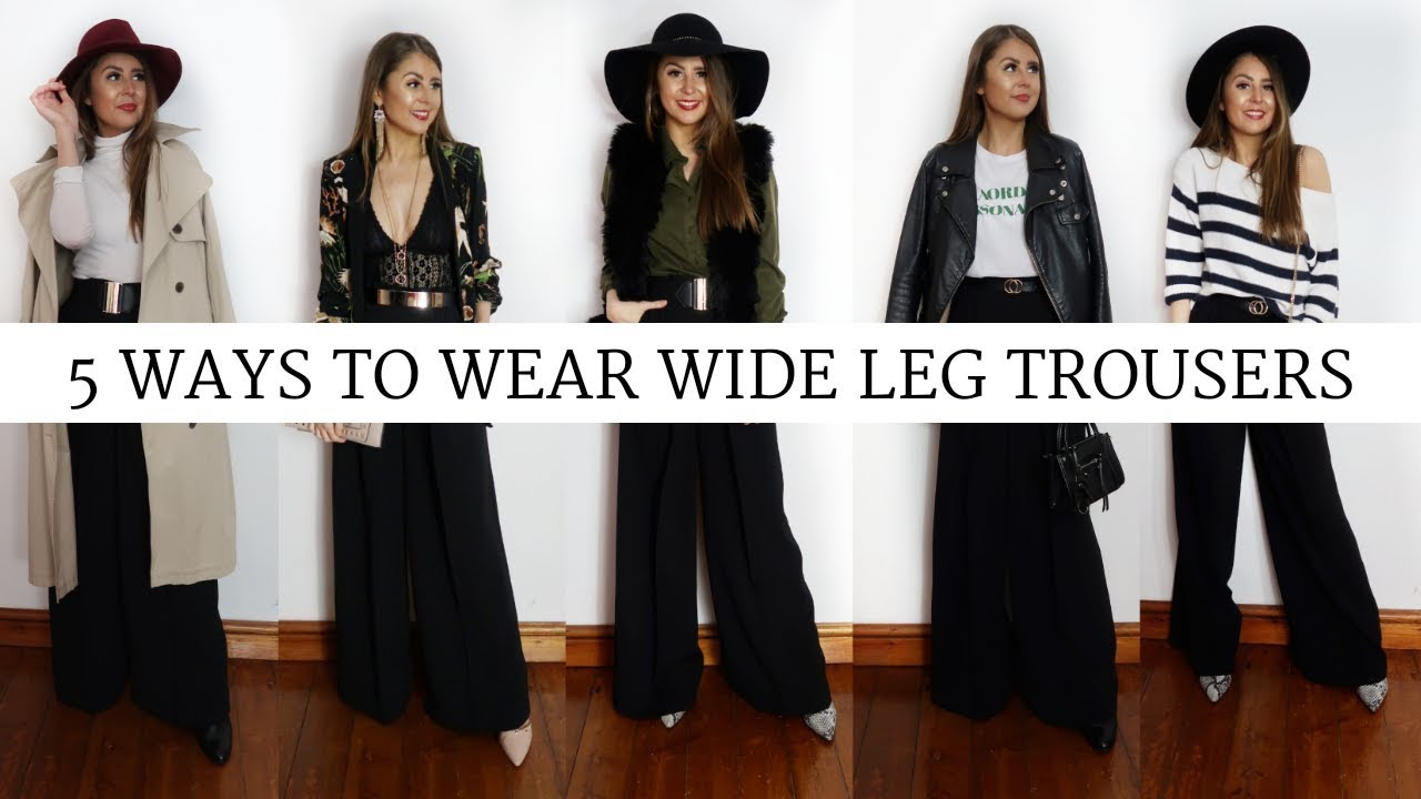c9159352216 5 Ways to Wear Wide Leg Trousers  LOOKBOOK - YouTube