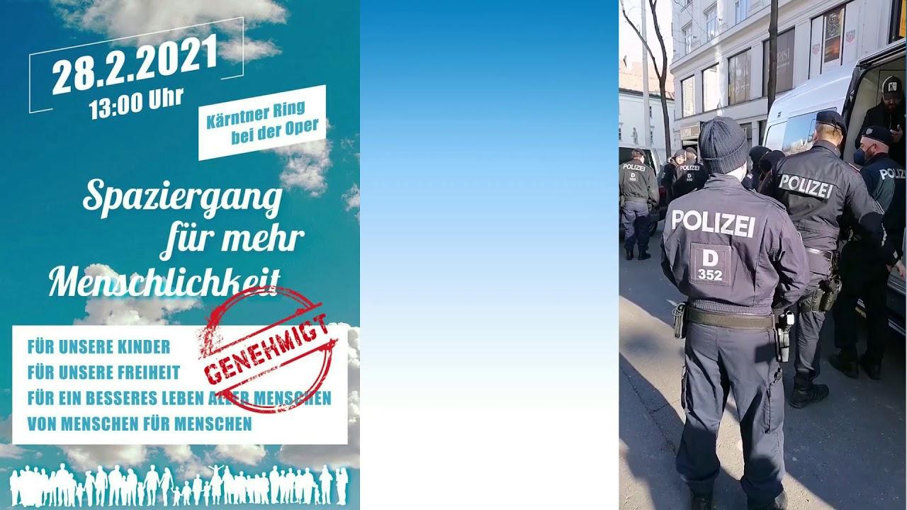 DIESE POLIZEI IST EINE SCHANDE: Yasin SCHWARZ festgenommen/wegen Verwaltungsübertretung am 28.2.2021