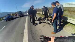 Tem de Edirne İstikameti Feci Motosiklet Kazası