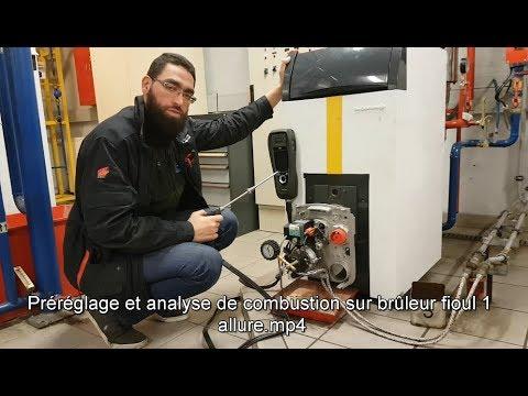 Préréglage et analyse de combustion sur brûleur fioul 1 allure