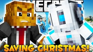 SAVING CHRISTMAS FROM ROBOTS (Minecraft Adventure Map)