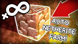 Fully Automatic NETHERITE FARM in Minecraft! (infinite Ancient Debris)