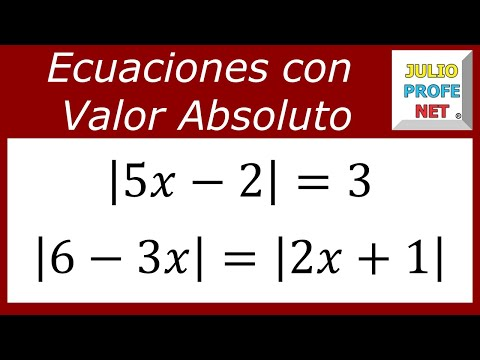 EQUATIONS WITH ABSOLUTE VALUE from YouTube · Duration:  11 minutes 55 seconds