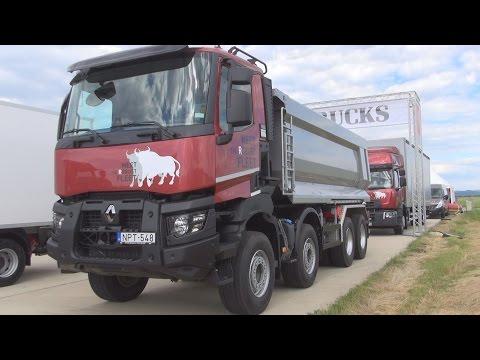Renault Trucks K 460 P8x4 Heavy 44 E6 Tipper Truck (2016) Exterior and Interior in 3D