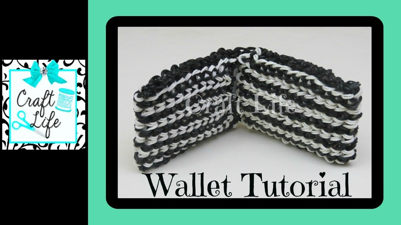Craft Life Wallet Tutorial on One Rainbow Loom - YouTube Rainbow Loom Mini Purse Craft Life