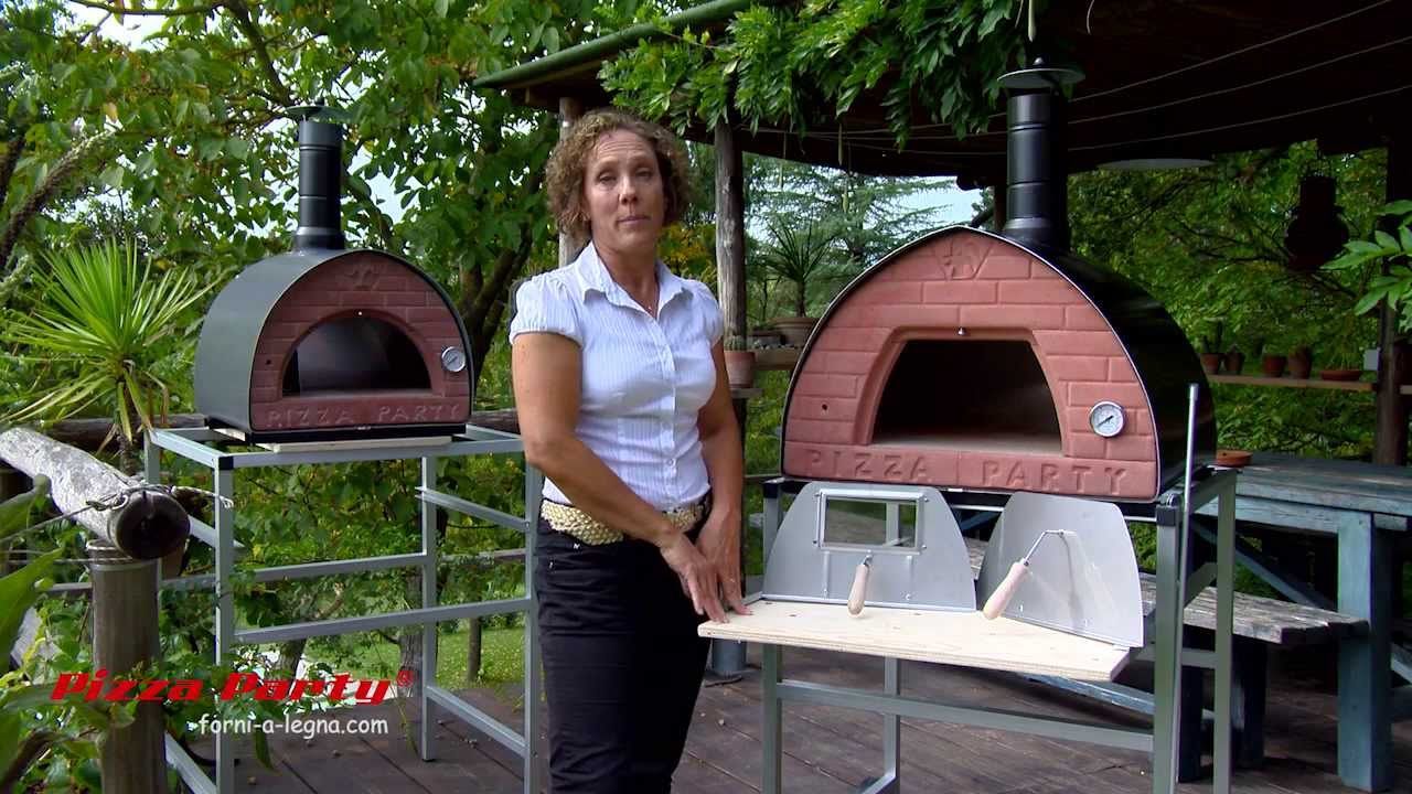 Heating Wood Fired Pizza Oven Party
