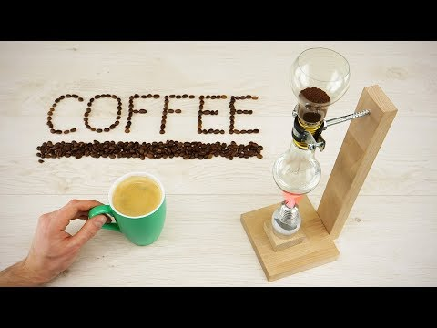 DIY Vacuum Coffee Maker out of Light Bulbs