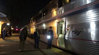 Amtrak #4 Southwest Chief departing Fullerton station with marti ann 2019-11-16