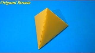 Оригами пирамида из бумаги
