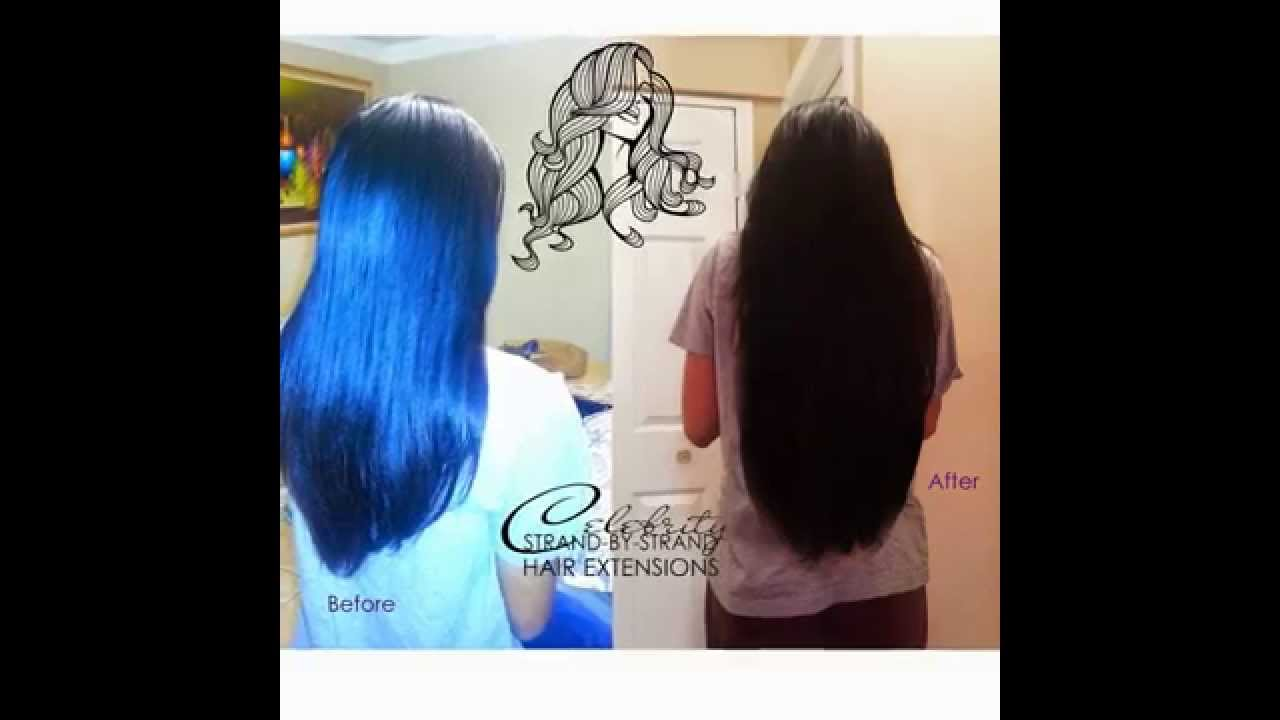 Celebrity Strand By Strand Hair Extensions Youtube