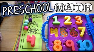 PRESCHOOL MATH ACTIVITY   Counting to 10