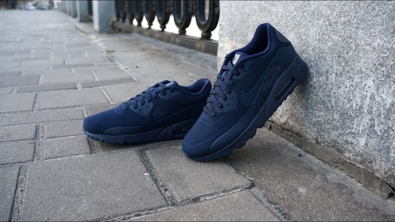 best website c1e2e 732bc Nike Air Max 90 Ultra Moire Midnight Navy - YouTube