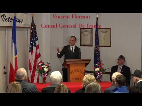French Consul Bestows Medals - American Legion, Bellevue IA (clip)
