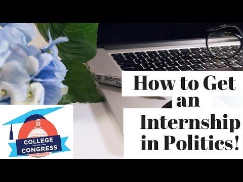 How to get an Internship in Politics! | The Intern Queen