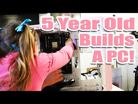 5 Year Old Builds a PC