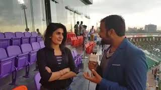 Meet Beautiful Actress Kubra Khan, Brand Ambassador of Karachi Kings at PSL3 in Lahore Stadium