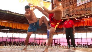 Lethwei Burmese Boxing [HD] - Fight Tournament near Eindu (3) - Kayin State Myanmar - Thingyan 2013
