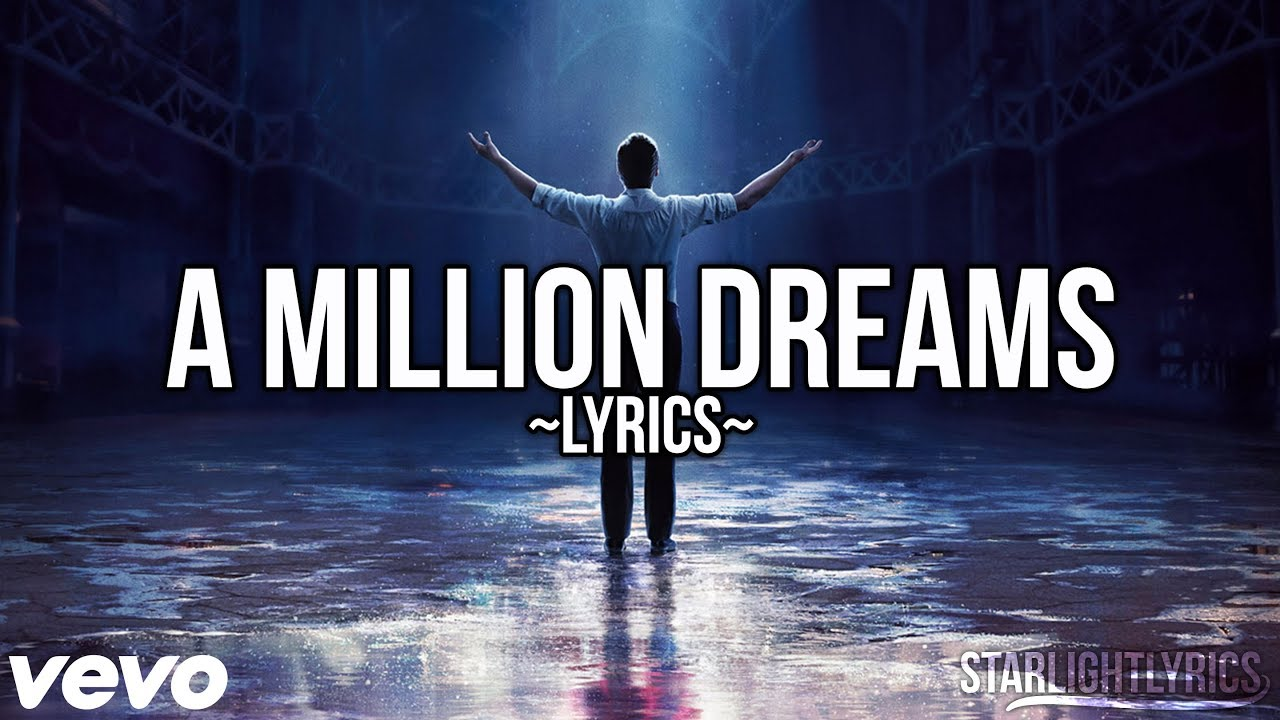 graphic regarding A Million Dreams Lyrics Printable identified as The Major Showman - A Million Wants (Lyric Online video) High definition