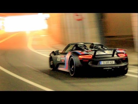 porsche 918 spyder tunnel acceleration downshift sounds. Black Bedroom Furniture Sets. Home Design Ideas