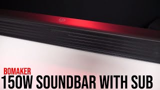 BOMAKER Affordable 150W Soundbar with Wireless Subwoofer