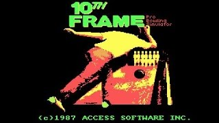 10th Frame Bowling gameplay (PC Game, 1986)