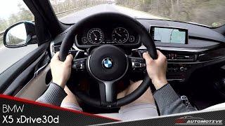 BMW X5 xDrive30d POV Test Drive + Acceleration 0 - 200 km/h