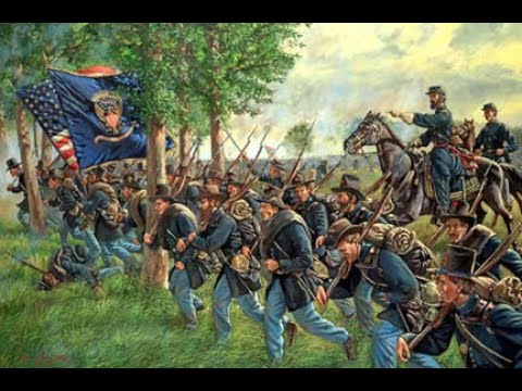 The opening of the Battle of Gettysburg, dawn, June 1, 1863
