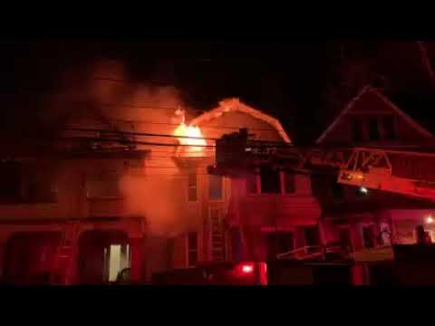 VIDEO: Firefighter Injured As Blaze Rips Through Three Jersey City Homes