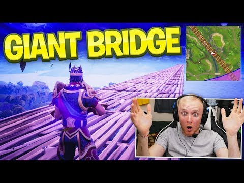 BUILDING THE LONGEST BRIDGE ACROSS THE MAP! - FORTNITE BATTLE ROYALE