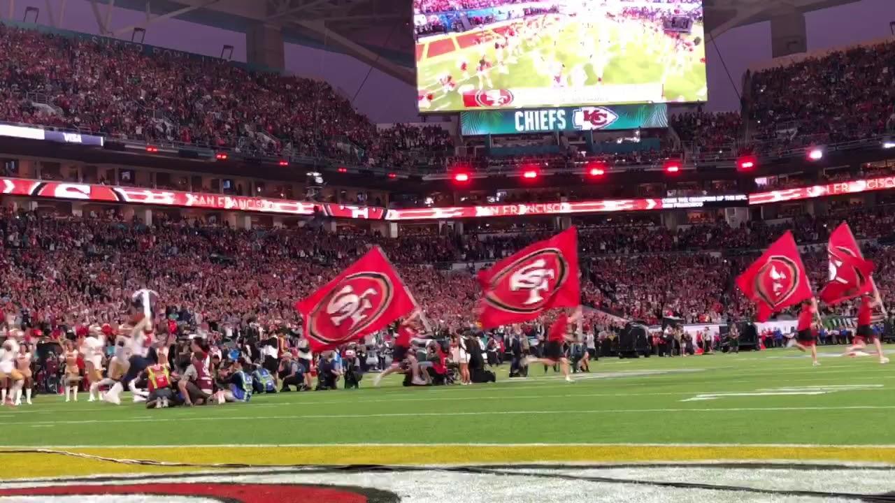 San Francisco 49ers Introduction at Super Bowl 54